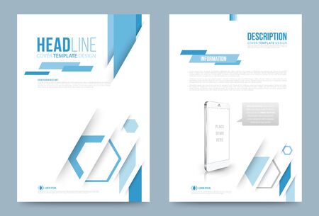 front: Vector cover design template simply and elegant style, Can use for flyer, brochure, annual report, magazine, book, poster, printing press and web presentation. Vector illustration. Front and back layout A4 size. Illustration
