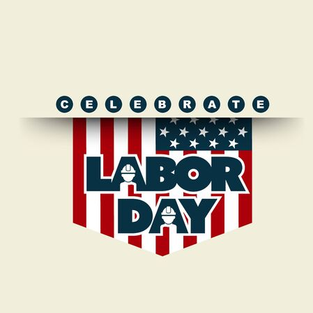 united state: American flag with typography celebrate Labor Day, September 7th, United state of America, American Labor day design.