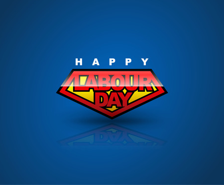 advertising signs: Happy Labour day badge shield. text signs. vector illustration. Can use for Labor day element advertising and poster.