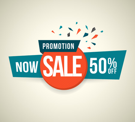 last chance: Promotion Now sale 50 percent off. Vector illustration.