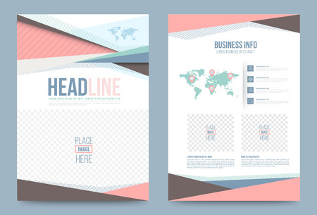 magazine cover: Vector cover design template simply and elegant style, Can use for flyer, brochure, annual report, magazine, book, poster, printing press and web presentation. Vector illustration. Front and back layout A4 size. Illustration