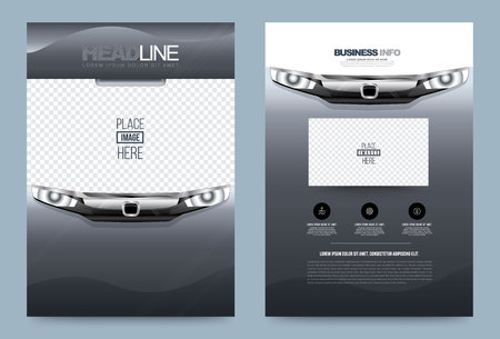 Business annual report brochure design template car style, Leaflet cover presentation modern for car poster magazine, layout in A4 size