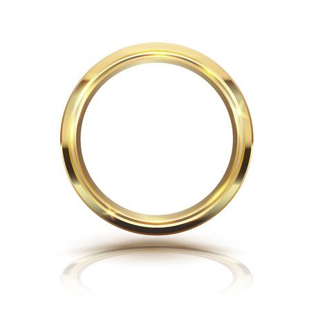 gold ring: Gold circle isolate on white background. illustration. Illustration