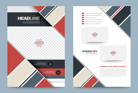 publication: Business annual report brochure flyer design template vector, Leaflet cover presentation abstract geometric background, modern publication poster magazine, layout in A4 size