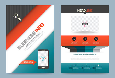 publication: Technology Business annual report brochure design template , Leaflet cover presentation abstract geometric background, modern publication poster magazine, layout in A4 size