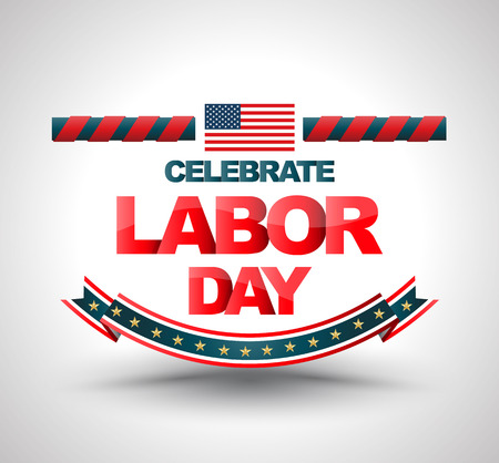 Celebrate labor day banner. illustration. Can use for LABOR DAY advertising promotion and more. Illustration