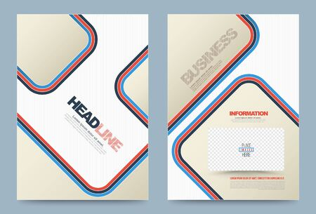 publication: Business annual report brochure flyer design template vector, Leaflet cover presentation abstract geometric background, modern publication poster magazine, layout in A4 size. Illustration