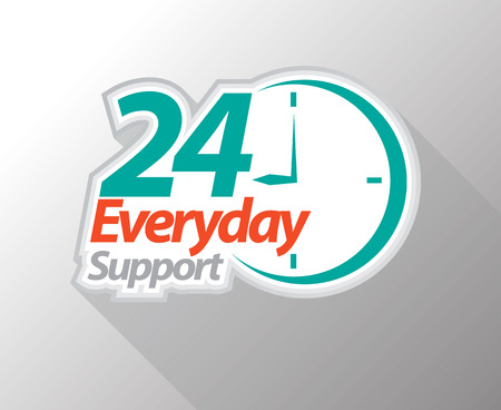 24 everyday support graphic icon. Vector illustration.