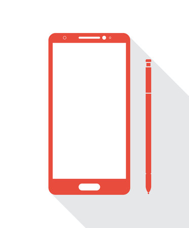 Vector smartphones with digital pen 版權商用圖片 - 63594331