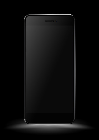 palmtop: Black Smartphone mockup. Vector illustration.