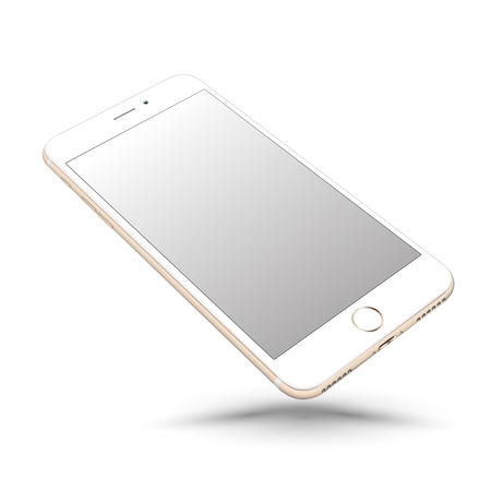 iphon: Perspective smartphone realistic mock-up. Vector illustration.