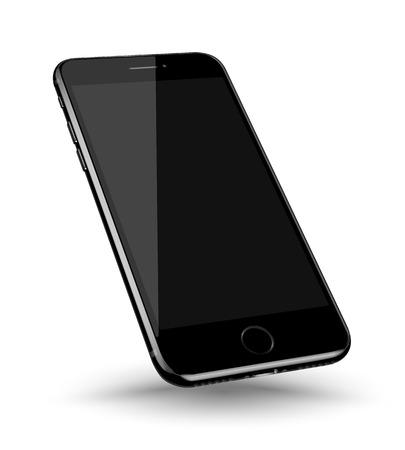 Perspectief smartphone realistische mock-up. Vector illustratie. Stock Illustratie