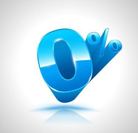 installment: Blue Zero percent 3D style.