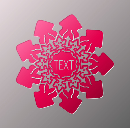 chipboard: Template snowflakes laser cut and engraved. Stencil for paper, plastic, wood, laser cut acrylic. Illustration