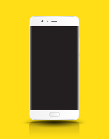 phone isolated: Realistic smartphone mockup easy place image into screen smartphone. Vector illustration cell phone isolated.