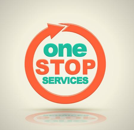 1 icone di servizi di riparazione . Illustrazione vettoriale