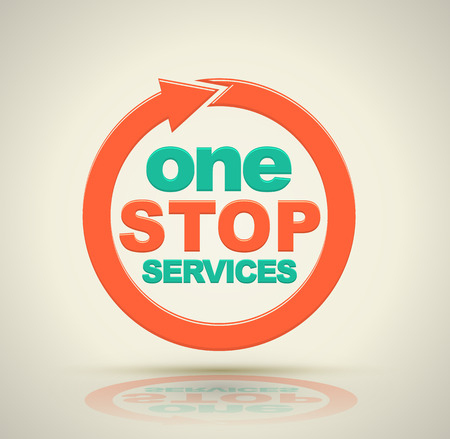 1 stop services icon. Vector illustration.