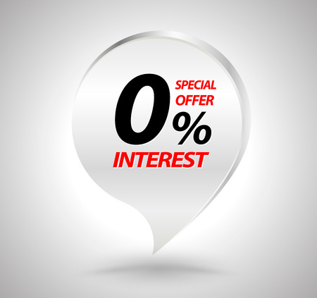 Special offer Financing banner. Vector illustration for promotion advertising.