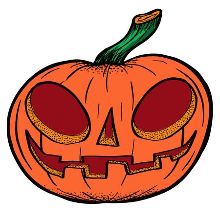 Pumpkin drawn for halloween vector illustration. Illustration