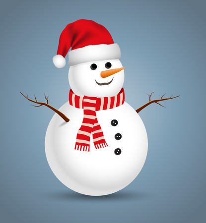 Christmas snowman illustration.