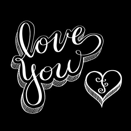 Doodle for love concept. Vector Illustration for valentine and wedding. Illusztráció