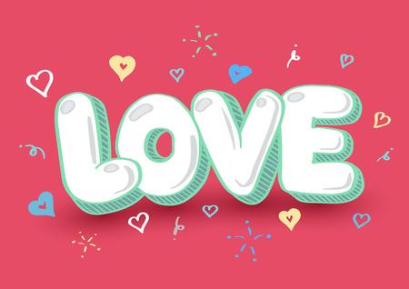 Doodle for love concept. Vector Illustration for valentine and wedding. Illustration