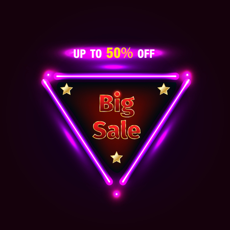 Sale banner vector illustration for promotion discount advertising element.  イラスト・ベクター素材