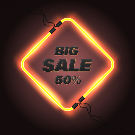 Sale banner vector illustration for promotion discount advertising element. 일러스트