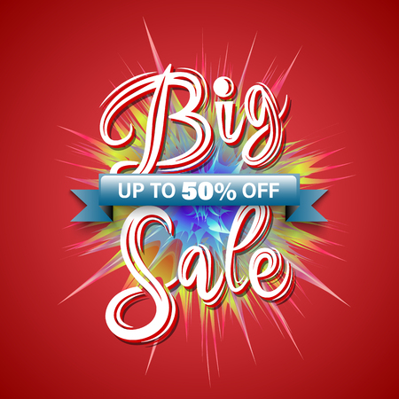 Sale banner vector illustration for promotion discount advertising element. Illustration