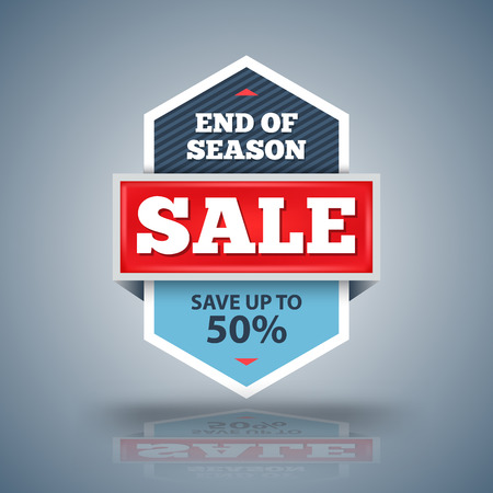 Sale banner vector illustration for promotion discount advertising element. Ilustração