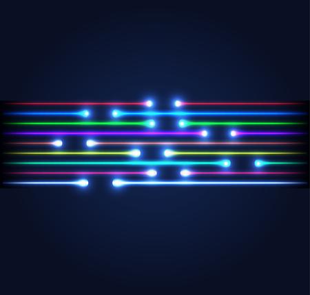 Glasvezelverbinding zakelijke communicatie netwerk technologie Vector illustratie.