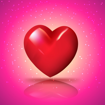 Heart for love. Vector illustration for love concept Valentine and wedding card.