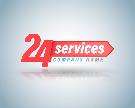 24 services symbol vector illustration.
