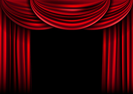 Background  curtain stage. Vector illustration.