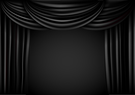 Background  curtain stage. Vector illustration. Imagens - 102095710