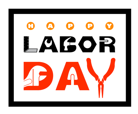 Happy Labor Day banner for advertising poster labour day.