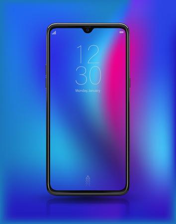 Realistic smartphone mockup easy place demo into screen 일러스트
