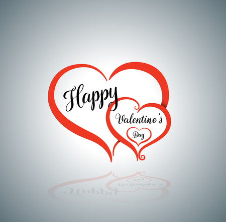 Heart vector illustration for love concept wedding and valentine's day
