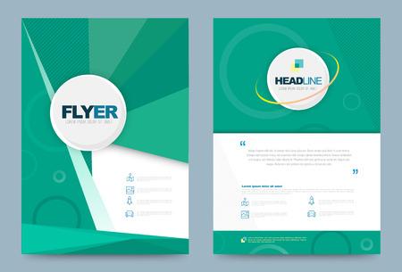 Plantilla de diseño de folleto flyer de informe anual. ilustración vectorial, uso para presentación de portada de folleto fondo plano abstracto, diseño en tamaño A4