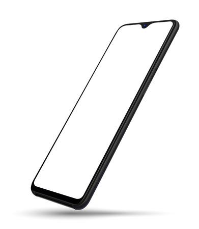Realistyczna makieta przezroczystego ekranu smartfona