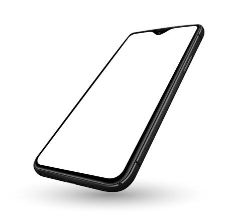 Pantalla transparente de maqueta de teléfono inteligente realista