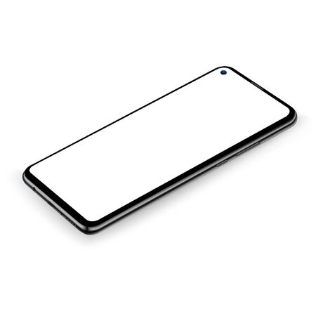 Smartphone mockup vector new realistic mobile phone smartphone collection  mockups easy remove screen vector illustration for printing game and web element. Çizim