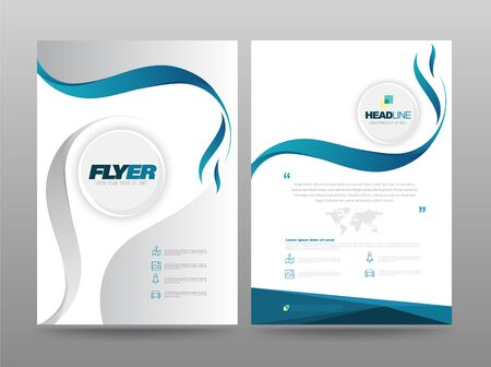 Template annual report brochure flyer design modern style. vector illustration, Use for Leaflet cover presentation abstract flat background, layout in A4 size