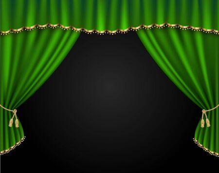 Curtain vector realistic illustration