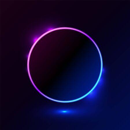 Shape light blue pink vector illustration frame for promotion advertising