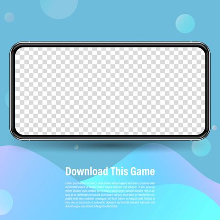 Smartphone mockup for easy place demo on mobile screen. Vector illustration object for technology communication and applications.