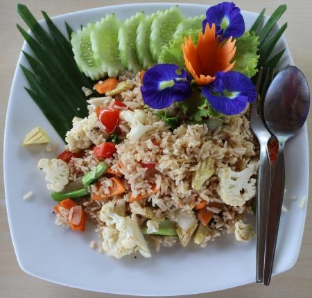 Thai fried rice Stock Photo