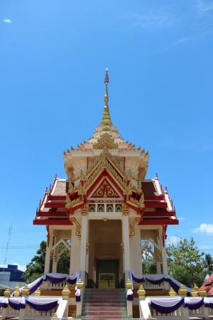Crematorium in temple Stock Photo