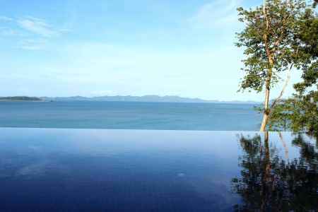 Sea view swimming pool with infinity edge