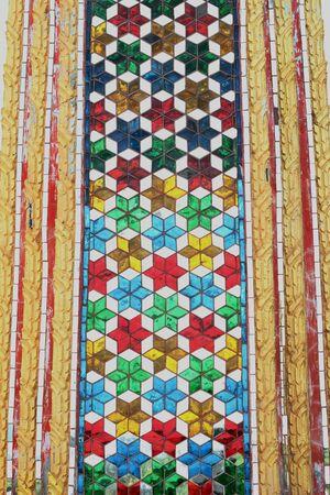 Buddhist Thai Church column closed-up view Stock Photo